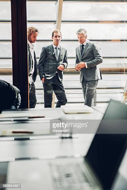Businessmen having a meeting in office