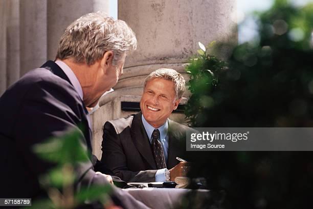 Businessmen having a meeting