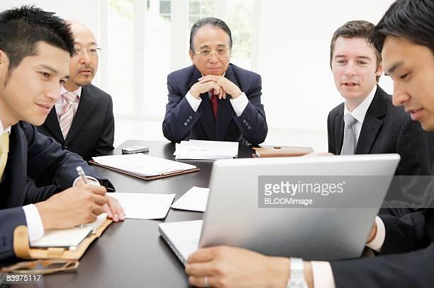 Businessmen having meeting