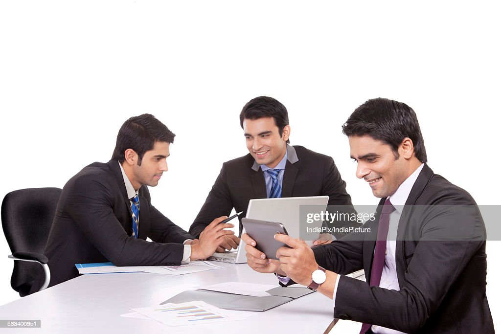 Businessmen in a meeting : Stock Photo