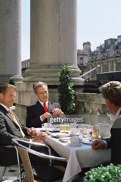 Businessmen in a restaurant