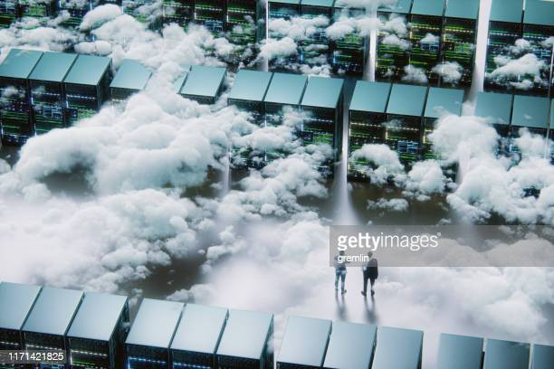 businessmen in front of maze - cloud computing stock pictures, royalty-free photos & images