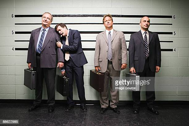 Businessmen in lineup