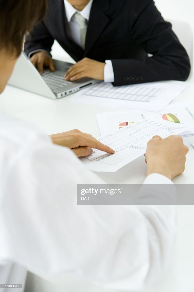 Businessmen In Meeting, Close Up : Photo