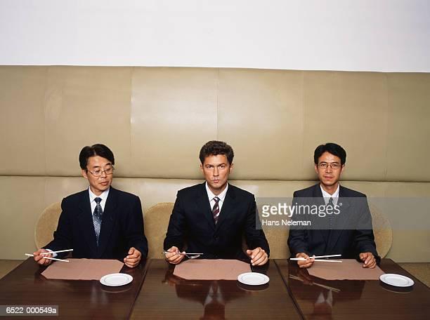 Businessmen in Restaurant