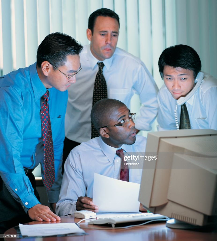 Businessmen looking stressed : Stock Photo