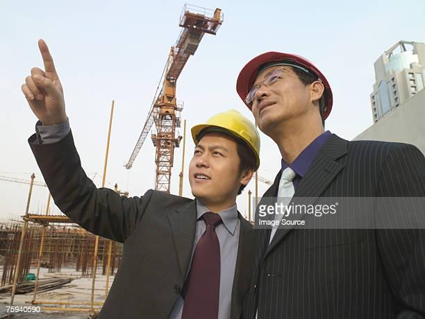 Businessmen on a building site
