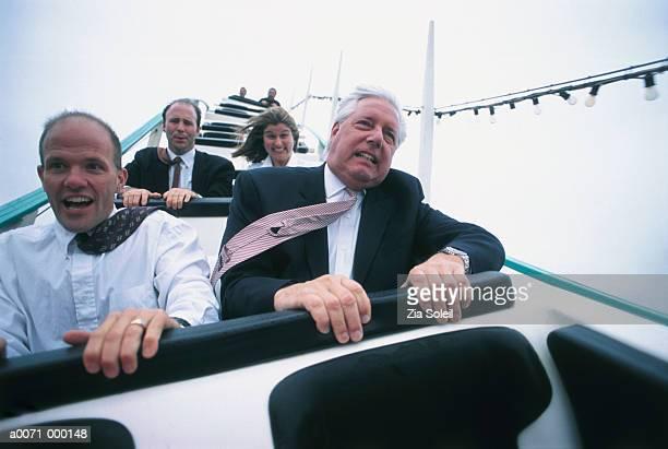 Businessmen on Rollercoaster
