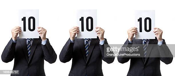 businessmen - perfect score! - scoreboard stock pictures, royalty-free photos & images
