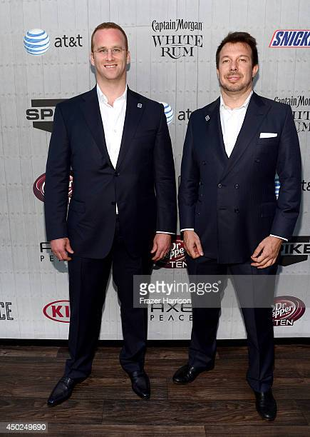 """Businessmen Pierre Andurand and Scott Rudmann attend Spike TV's """"Guys Choice 2014"""" at Sony Pictures Studios on June 7, 2014 in Culver City,..."""