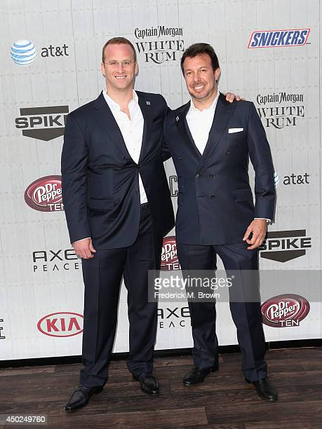 Businessmen Pierre Andurand and Scott Rudmann attend Spike TV's Guys Choice 2014 at Sony Pictures Studios on June 7 2014 in Culver City California