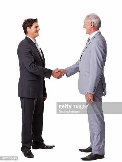 Businessmen Shaking Hands - Isolated