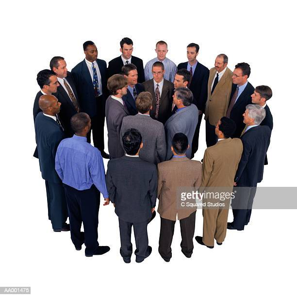 Businessmen Standing in Circles