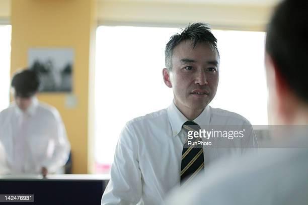 businessmen talkking in the office