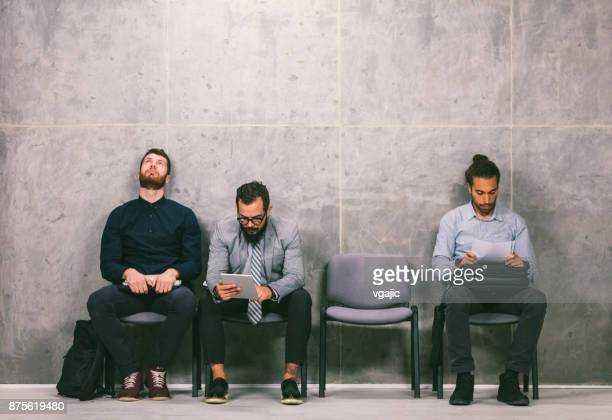 Businessmen Waiting for an Interview