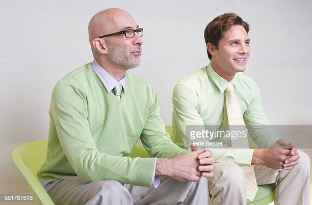 Businessmen Wearing Light Green
