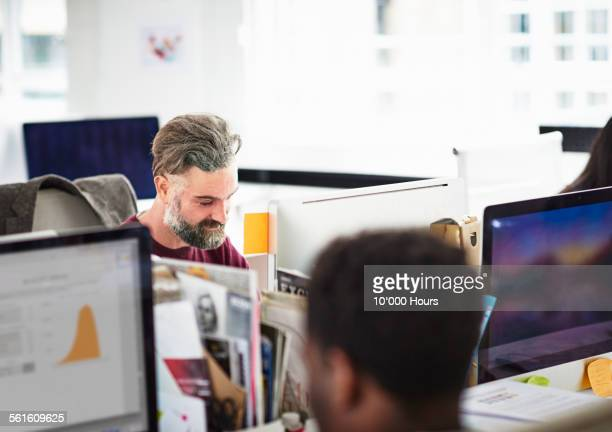 Businessmen working on a project on computer