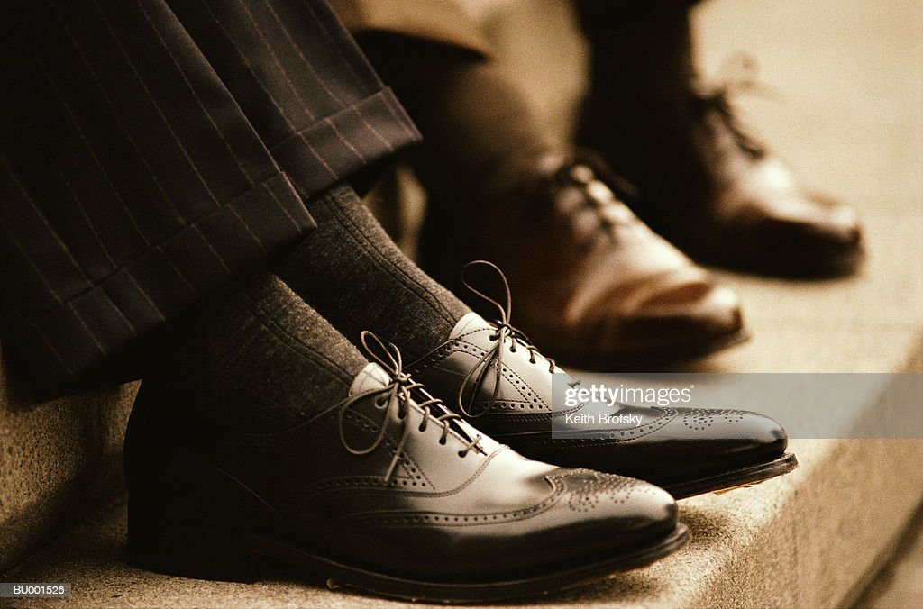 Businessmen's Wingtip Shoes : Stock Photo