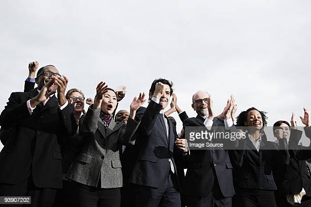 Businesspeople applauding