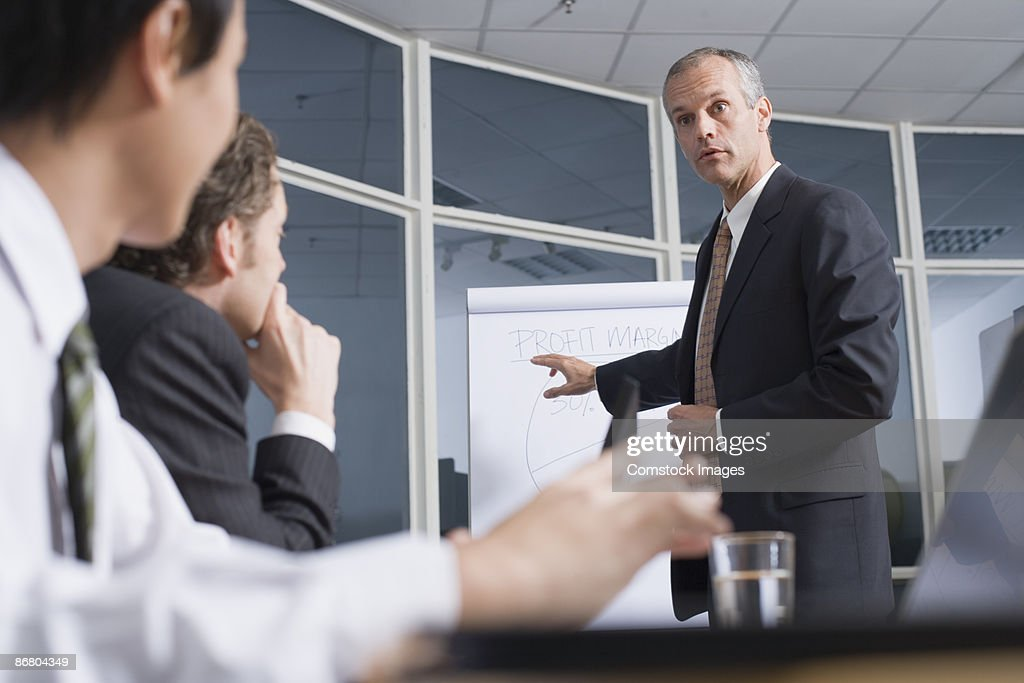 Businesspeople at a meeting : Stock Photo