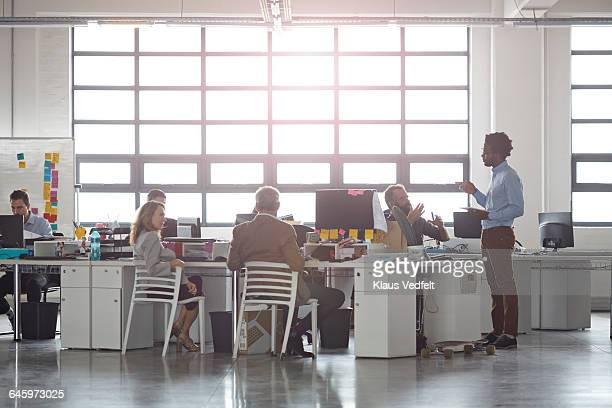 Businesspeople at large open office space