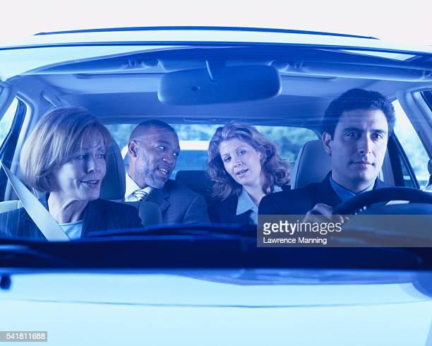 Businesspeople Carpooling