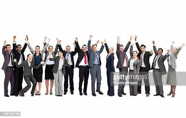 Businesspeople Cheering - Isolated