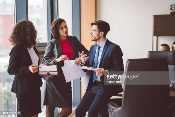 businesspeople discussing business - secretary stock photos and pictures