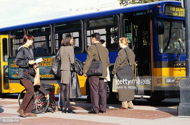 Businesspeople Entering Bus