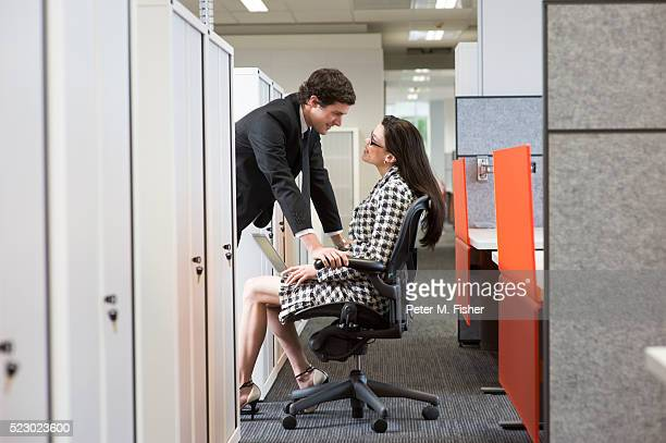 businesspeople flirting - work romance stock pictures, royalty-free photos & images