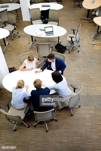 Businesspeople having a meeting in office