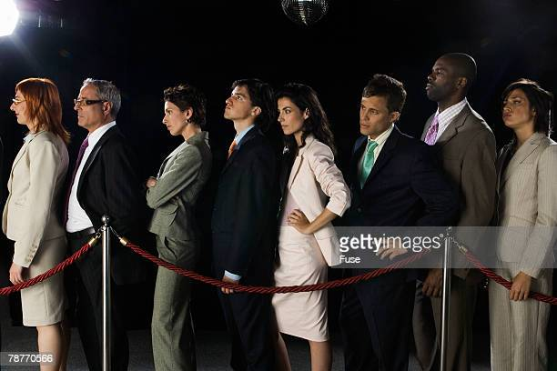 Businesspeople in a Line