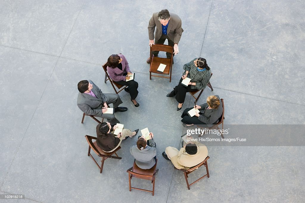 Businesspeople in a meeting : Stock-Foto