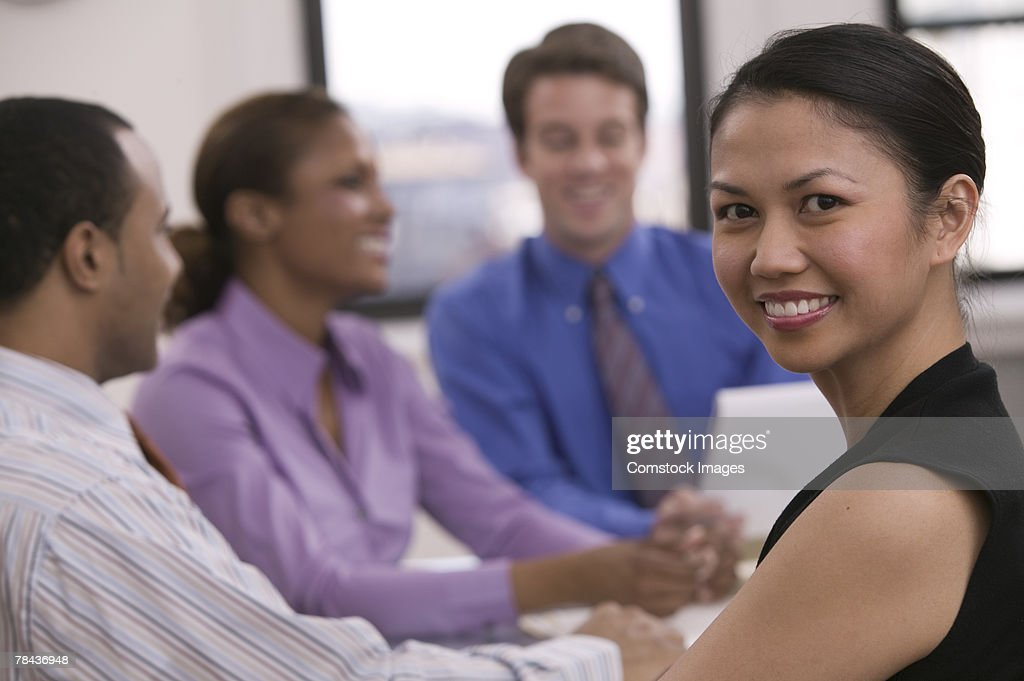 Businesspeople in a meeting : Stockfoto