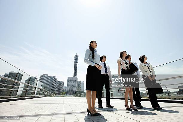 Businesspeople in city scene