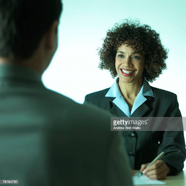 Businesspeople in interview