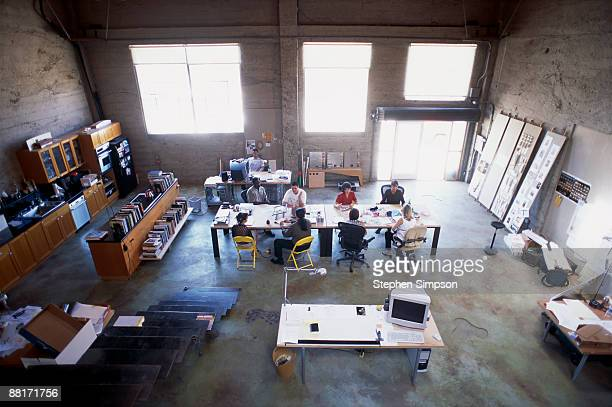 Businesspeople in meeting at design studio
