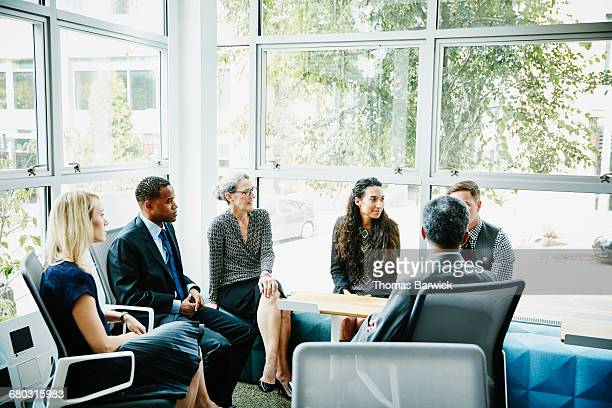 Businesspeople in meeting in conference room