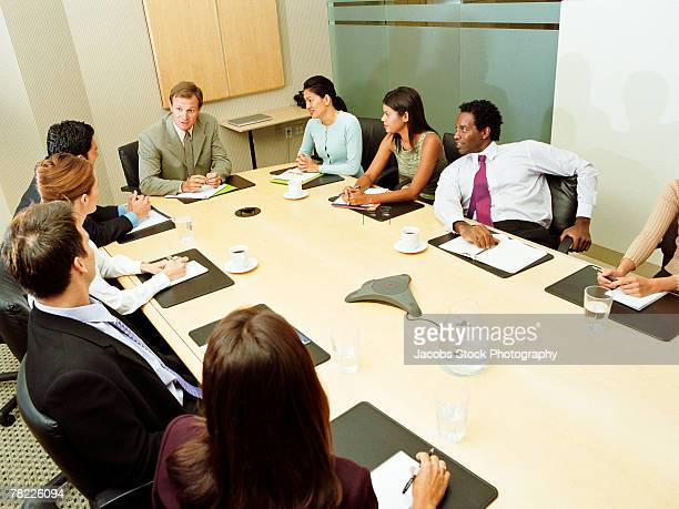 businesspeople in meeting - managing director stock pictures, royalty-free photos & images
