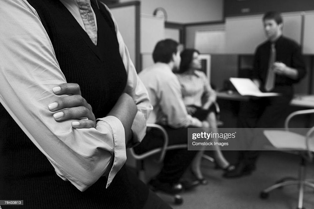 Businesspeople in office : Stockfoto