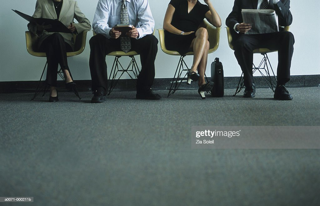 Businesspeople in Waiting Room : Stock Photo