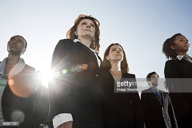 businesspeople looking up - low angle view stock pictures, royalty-free photos & images