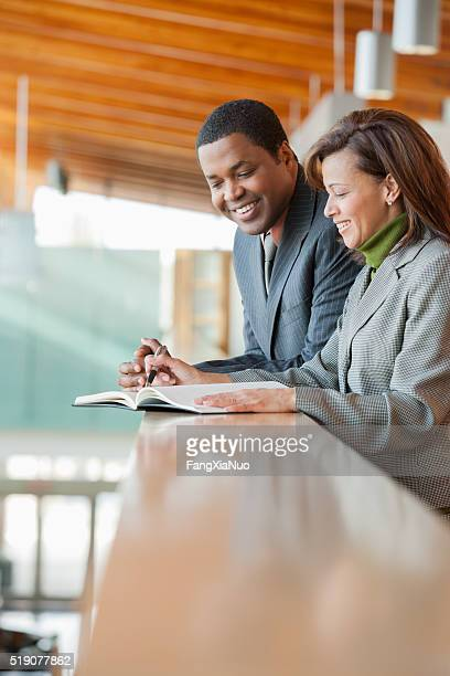 Businesspeople making an appointment