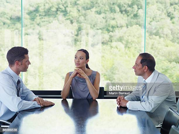 Businesspeople meeting in conference room