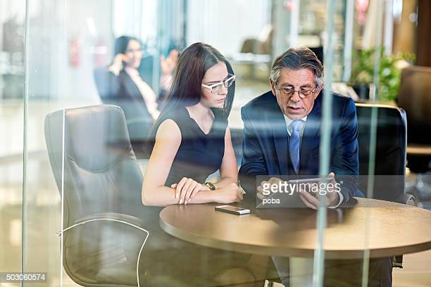 Businesspeople meeting in modern office