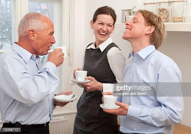 Businesspeople on a coffee break