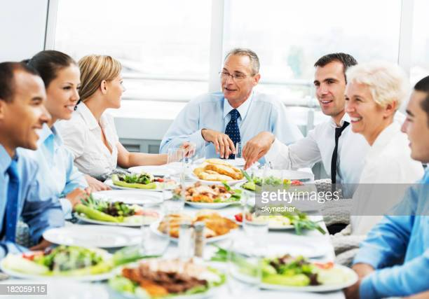 Businesspeople on a lunch