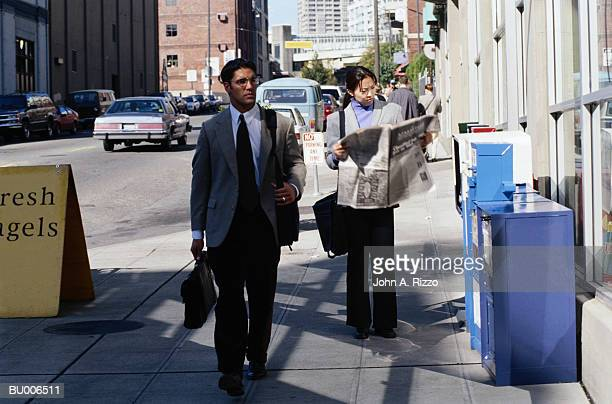 Businesspeople on Sidewalk