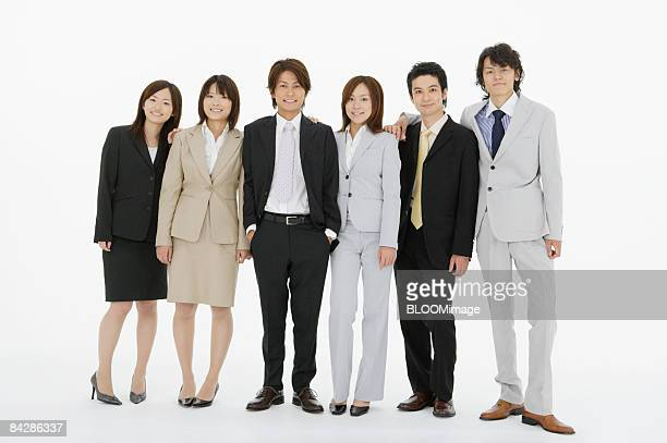 Businesspeople, portrait, studio shot