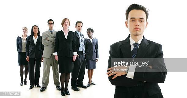 Hommes d'affaires série: Homme et son équipe II